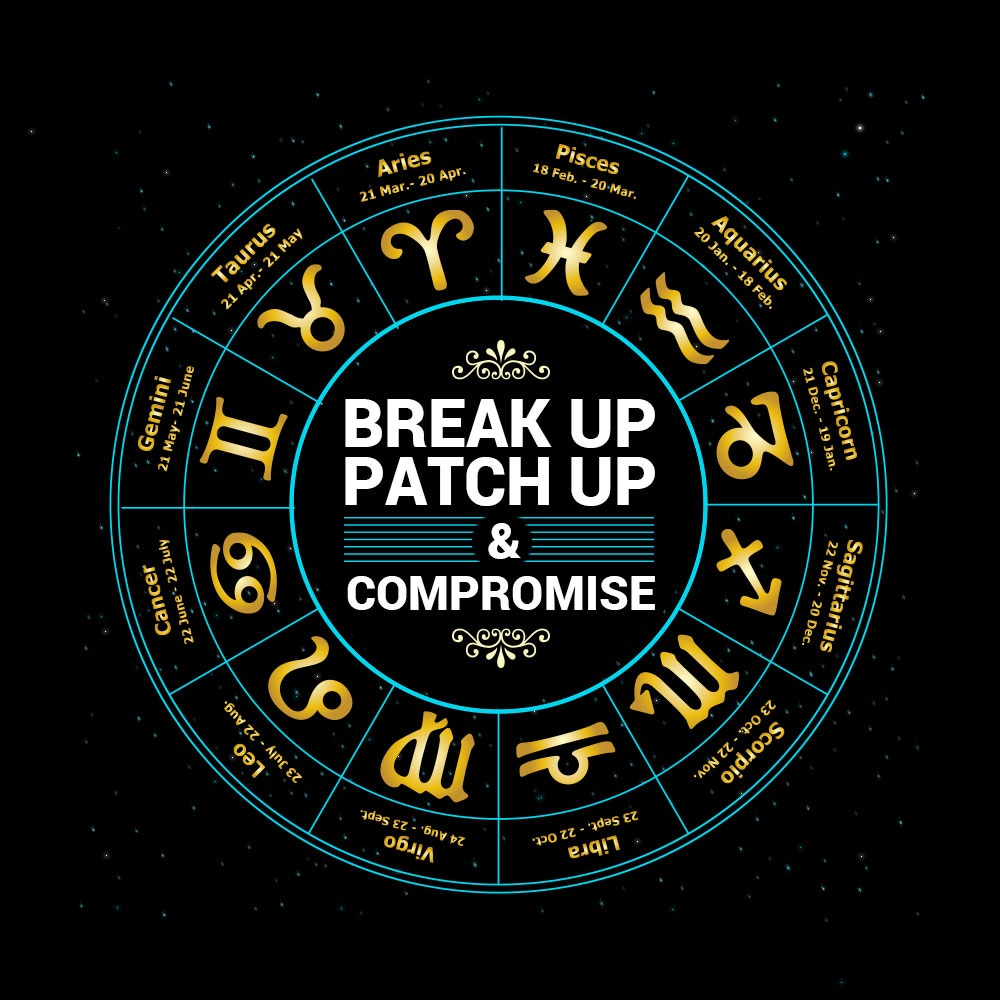 Break up Patch up & Compromise of 12 Zodiac Signs